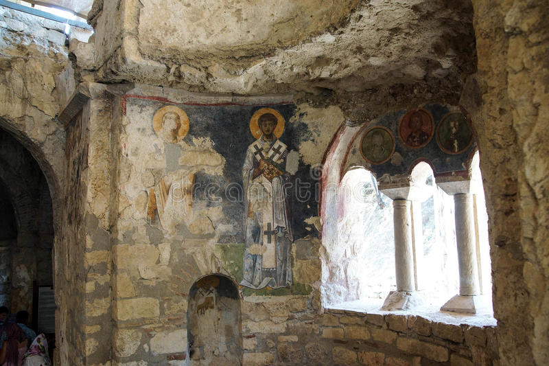 Fresques bizantins des saints photo libre de droits
