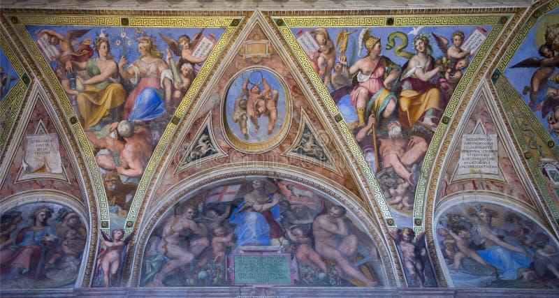 Fresques de Vatican images stock