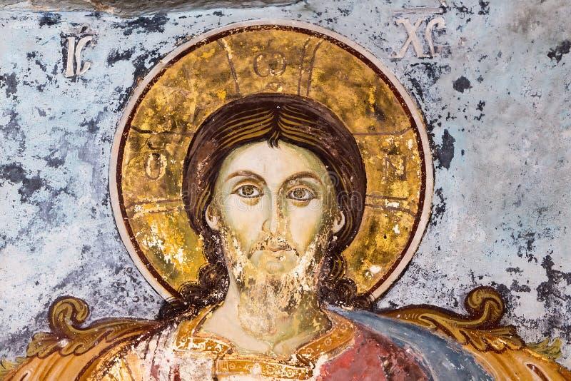 Fresques usés par le temps des saints photo stock