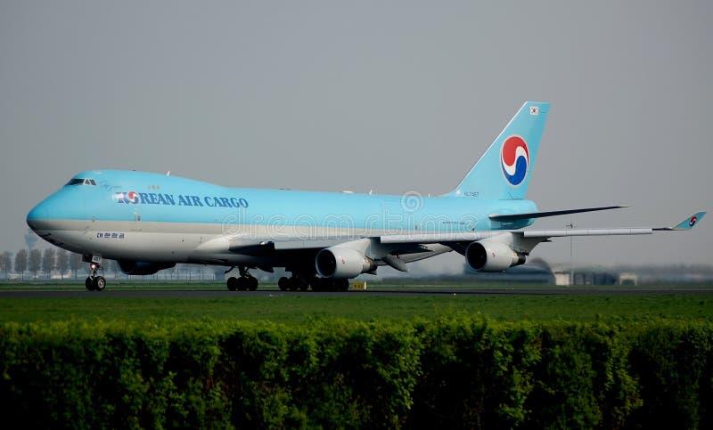 Fret aérien coréen 747 photo libre de droits