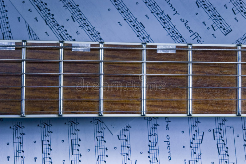 fretboard吉他 免版税库存图片