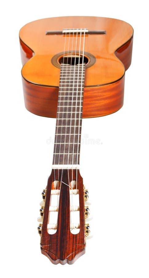 Fretboard de guitare acoustique classique photos stock