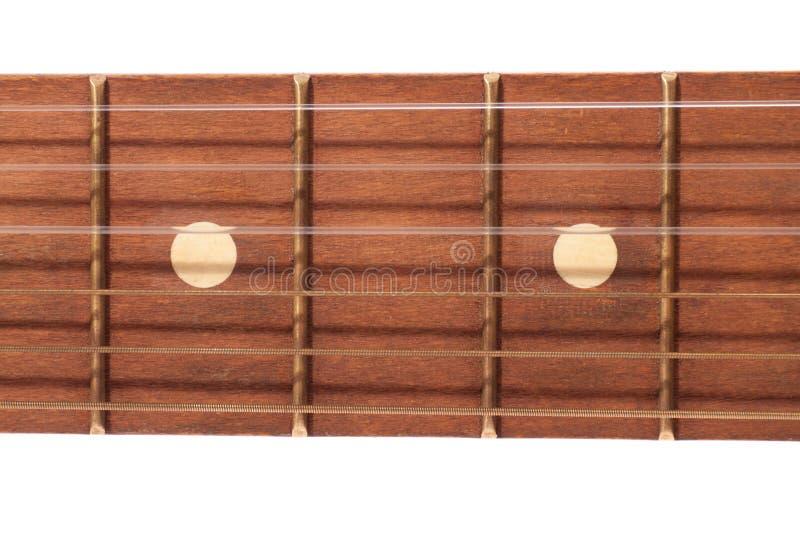Fretboard de la guitarra foto de archivo libre de regalías