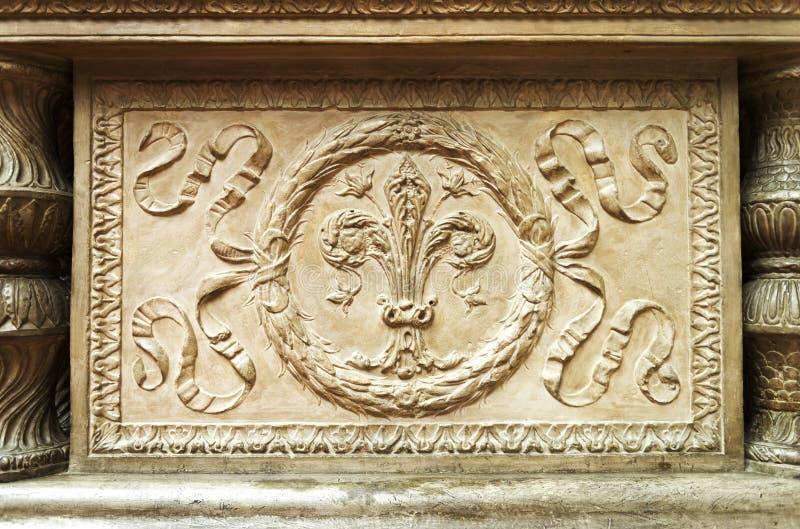 Fretwork element of historical monuments. Art fretwork element of historical monuments royalty free stock photo