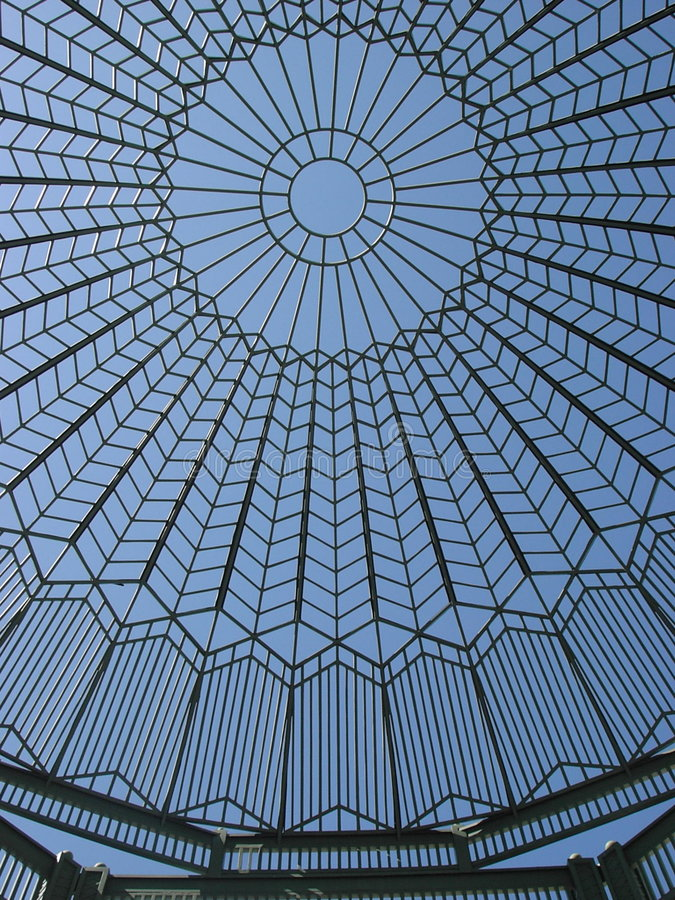Fretwork pattern. Fretwork rotunda against the sky royalty free stock images