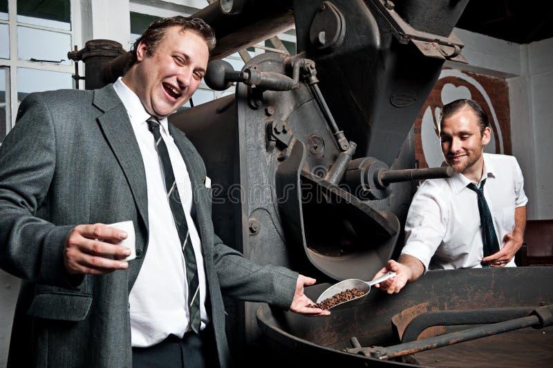 Freude über Kaffee lizenzfreies stockfoto