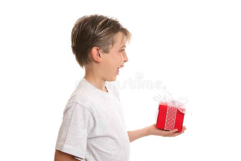 Freude an Weihnachtsdem geben stockbild