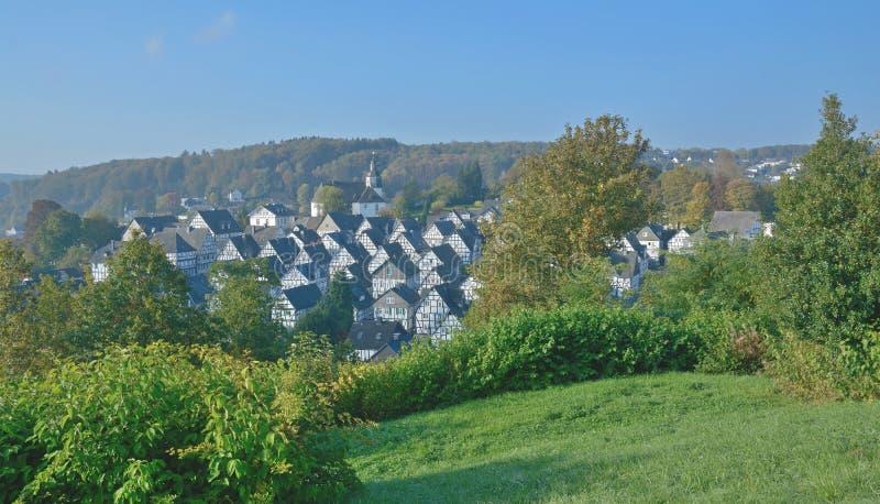 Freudenberg, Siegerland, Północny Rhine Westfalia, Niemcy obraz royalty free