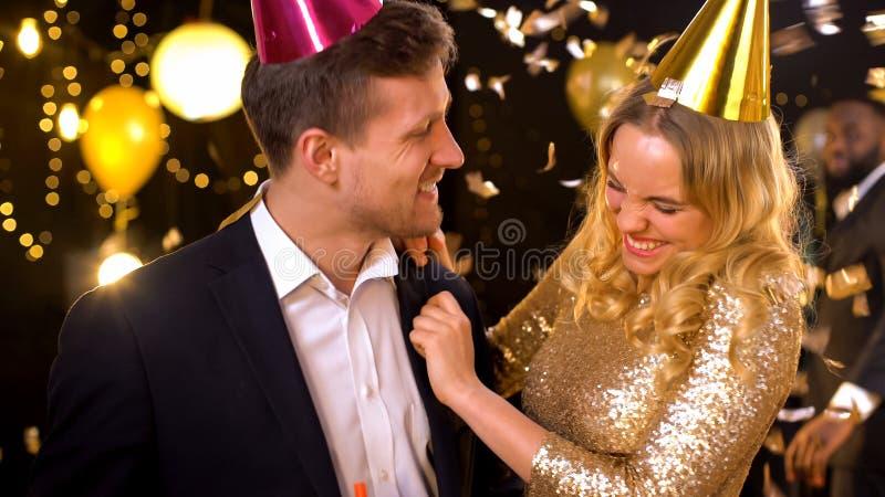 Freuen Sie sich auf Partys, gegenseitige Zuneigung, Beziehung stockfotografie