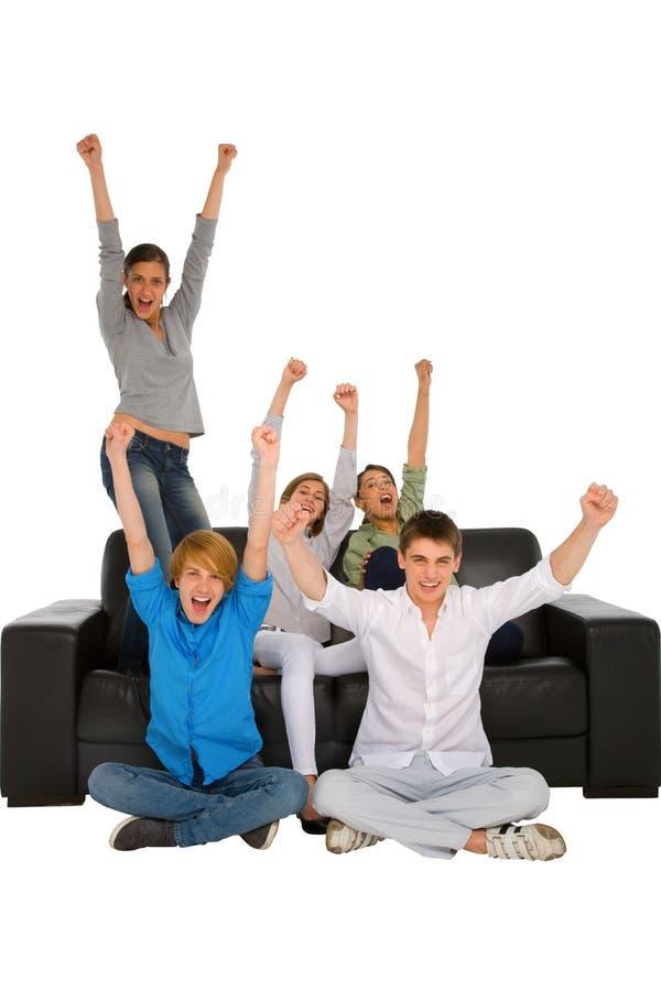 Freuende Jugendliche stockfoto