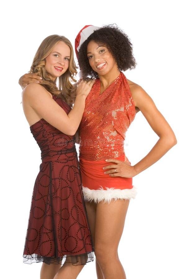 Freund der Weihnachtsethnischer Latina-Mrs Weihnachtsmann stockfotos