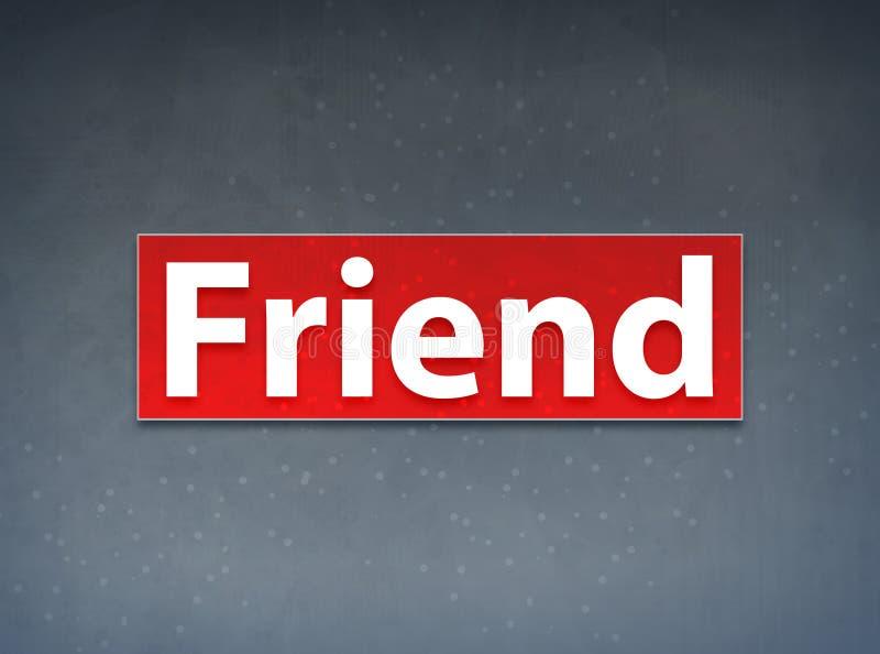Freund-roter Fahnen-Zusammenfassungs-Hintergrund vektor abbildung