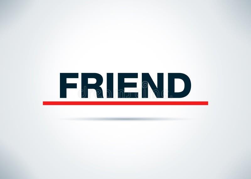 Freund-Zusammenfassungs-flache Hintergrund-Entwurfs-Illustration lizenzfreie abbildung