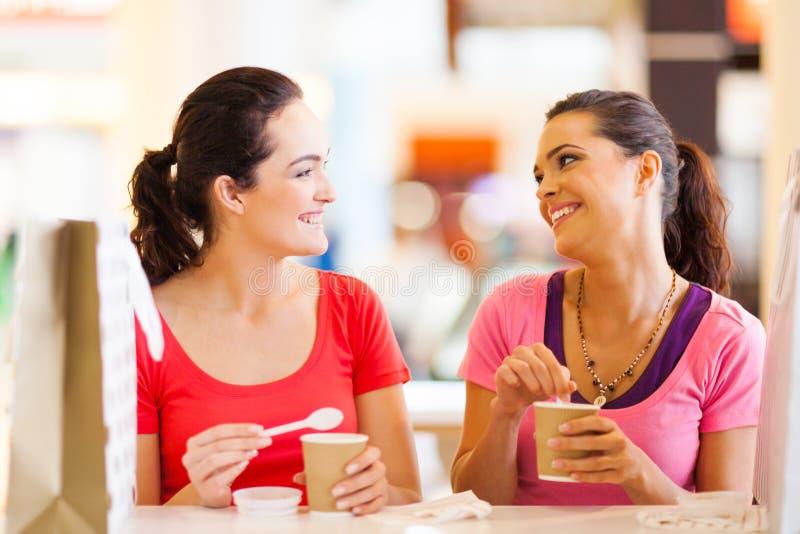 Freunde im Kaffee lizenzfreies stockbild