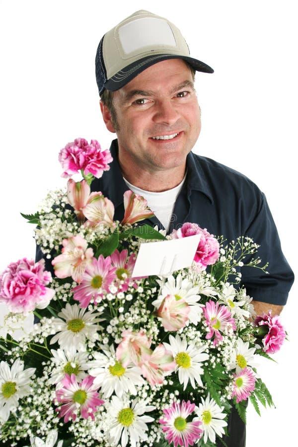 Freundliche Blumen-Anlieferung lizenzfreies stockbild