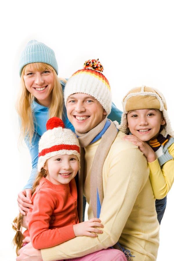 Freundliche Familie lizenzfreie stockfotos