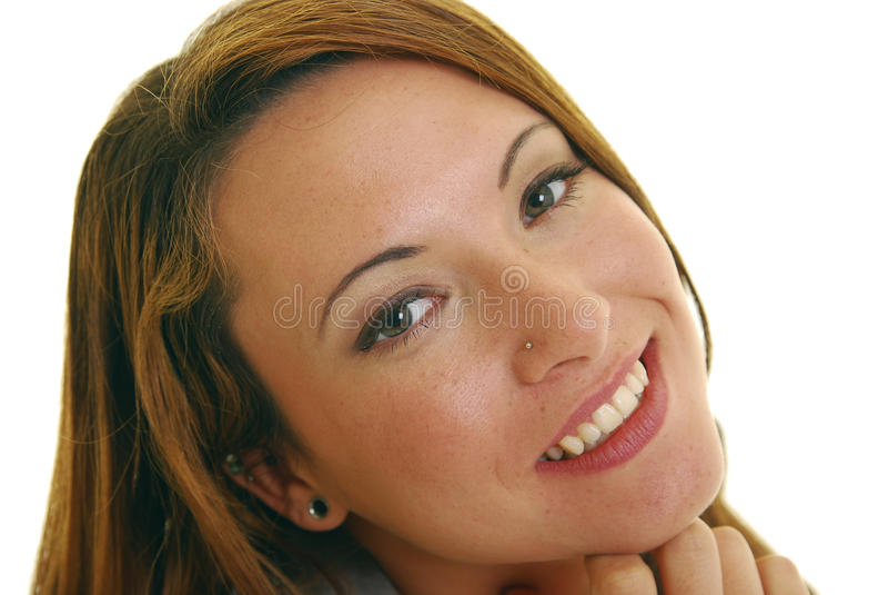 Freundliche Frau lizenzfreies stockbild