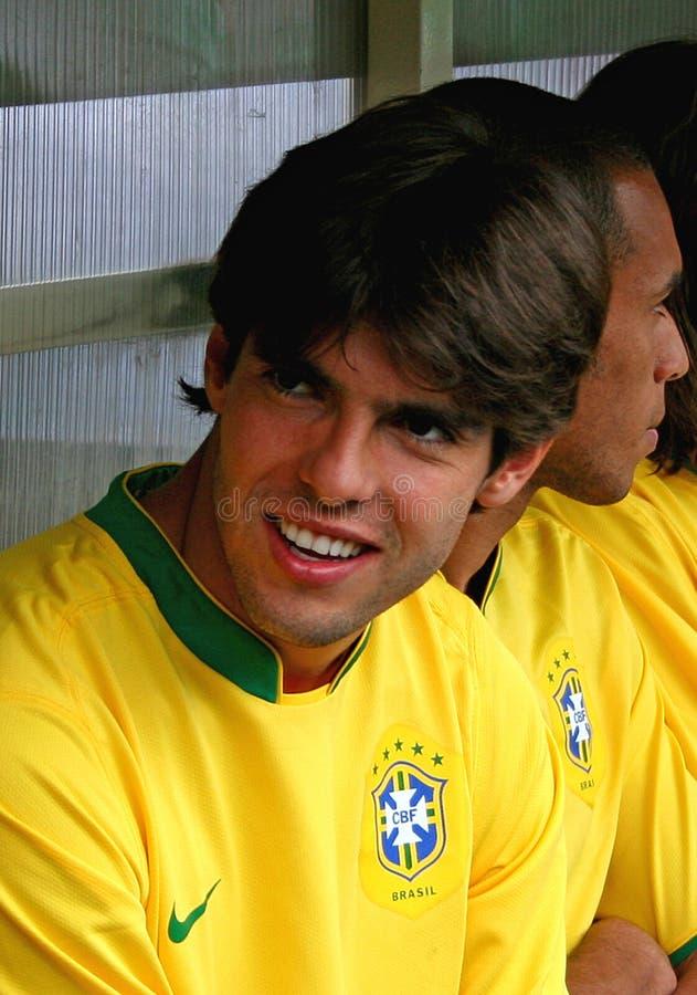 Freundliche Fußbalabgleichung Brasilien gegen Algerien stockbild