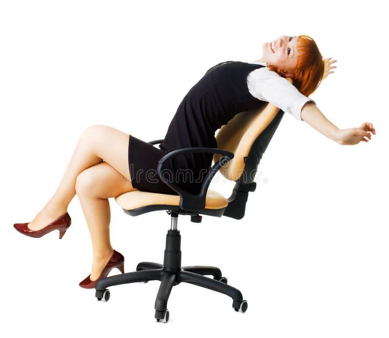 Freundliche Geschäftsfrau stockbilder
