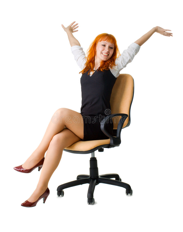 Freundliche Geschäftsfrau lizenzfreies stockbild
