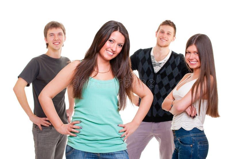 Freundliche Gruppe junge Leute lizenzfreies stockfoto