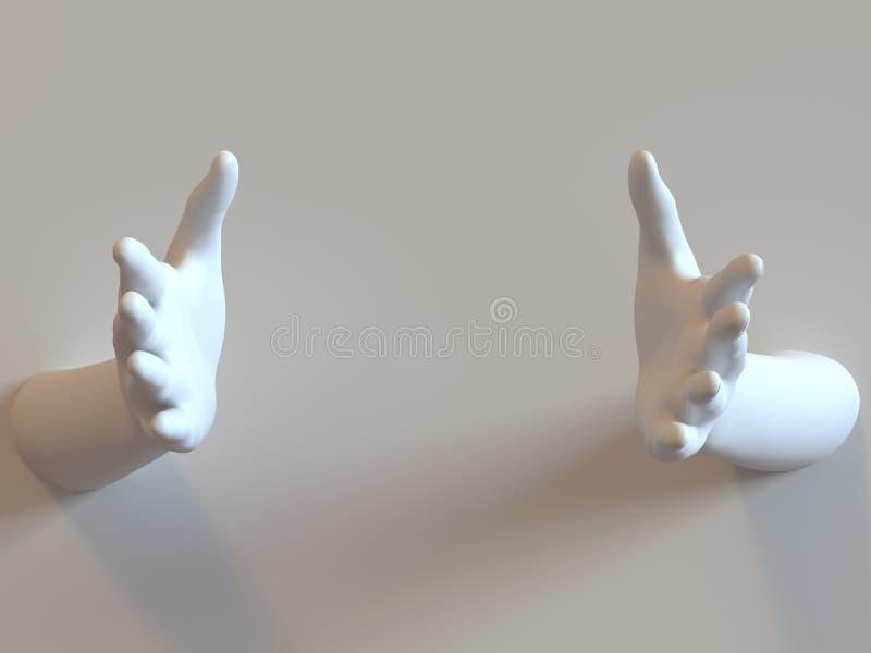Freundliche Hände lizenzfreies stockfoto