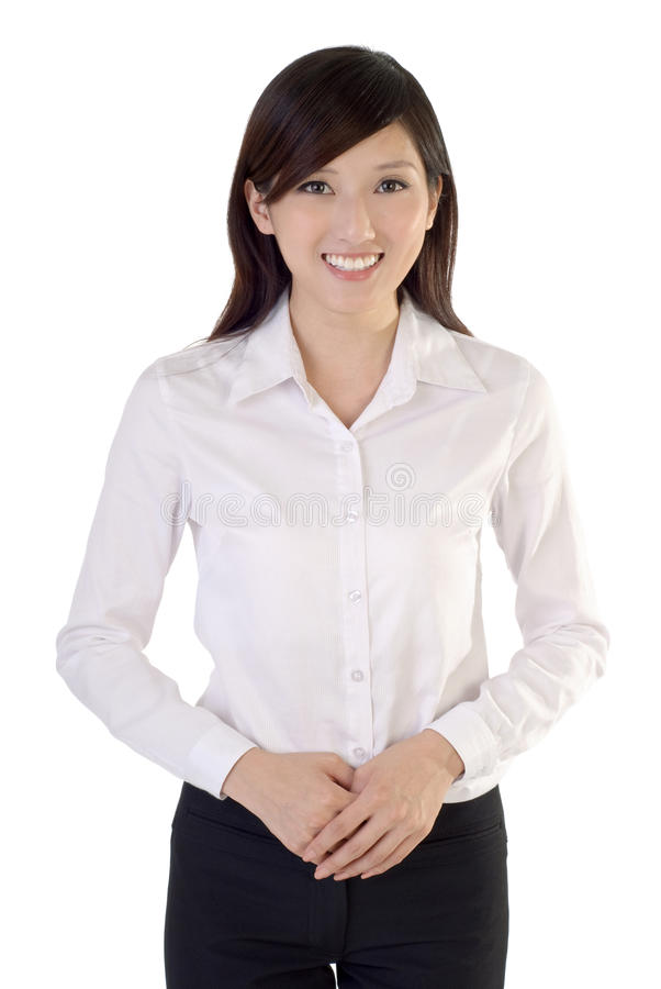 Freundliche junge Geschäftsfrau lizenzfreies stockfoto