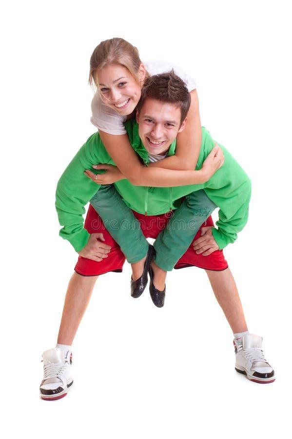 Freundliche junge Paare lizenzfreies stockfoto
