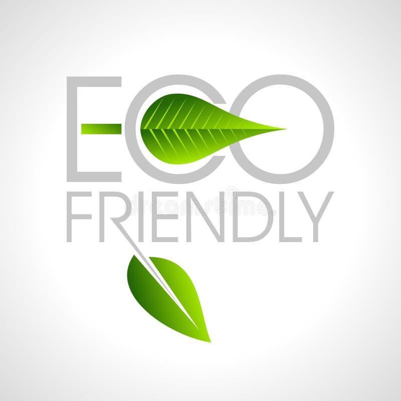 Freundliche Websiteikone Eco, stock abbildung
