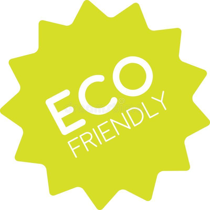 Freundlicher Ausweis Eco einfach vektor abbildung