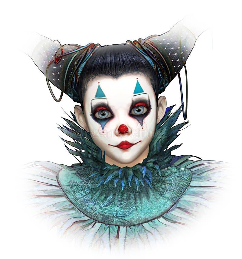 Freundlicher Clown, 3d CG lizenzfreie abbildung