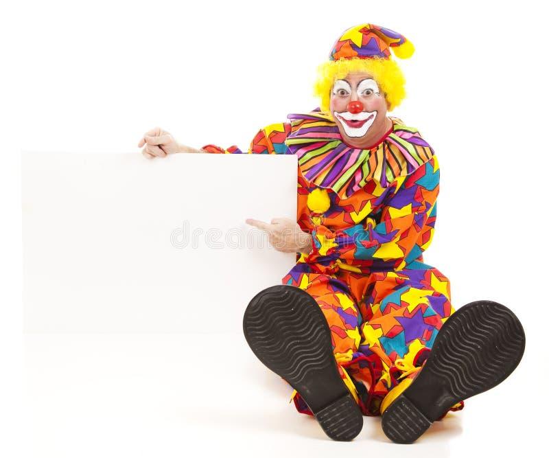 Freundlicher Clown hat Meldung lizenzfreies stockfoto