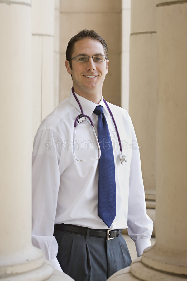 Freundlicher Doktor stockfoto