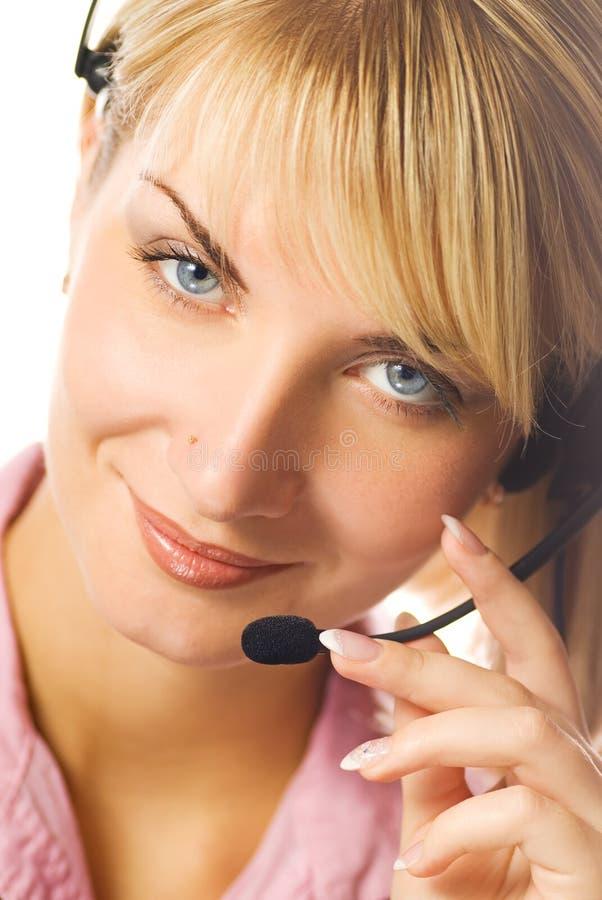 Freundlicher Hotlinesbediener lizenzfreies stockbild