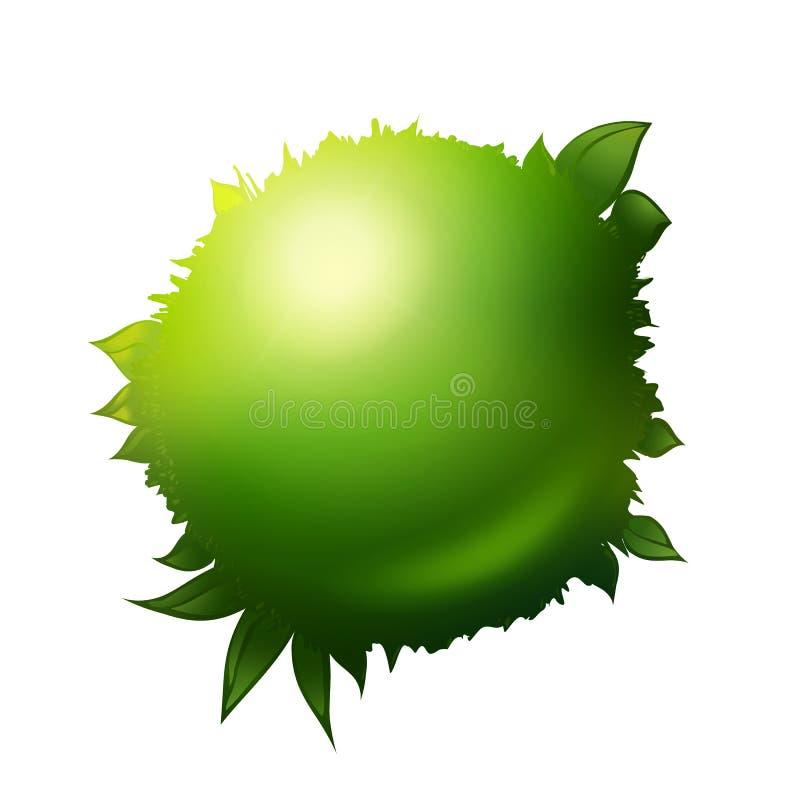 Freundlicher Planet 3d Eco lizenzfreie abbildung
