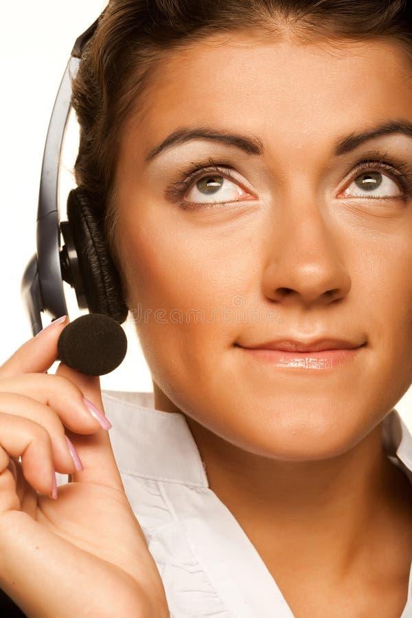 Freundlicher Sekretär-/Telefonbediener stockbild