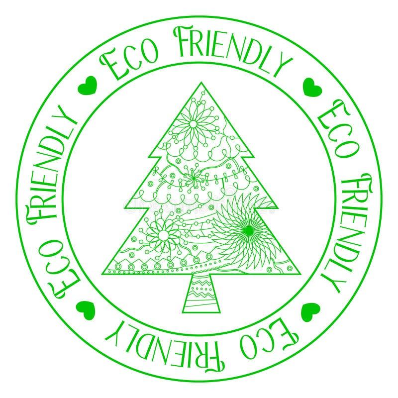 Freundlicher Stempel Eco mit Baum stock abbildung