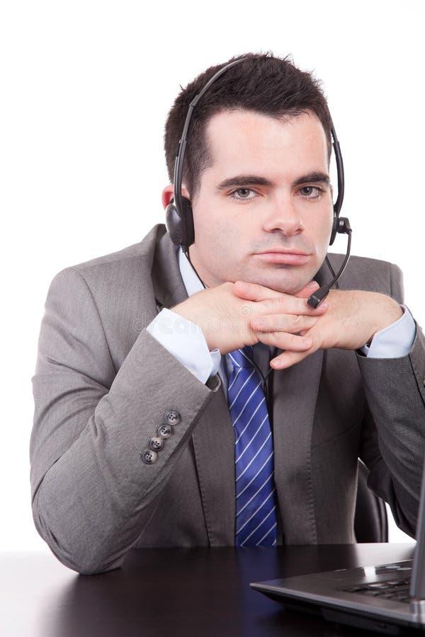 Freundlicher Telefonbediener stockbilder
