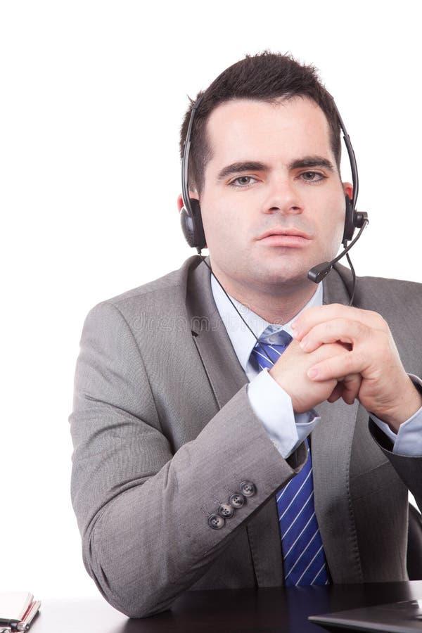 Freundlicher Telefonbediener lizenzfreies stockbild