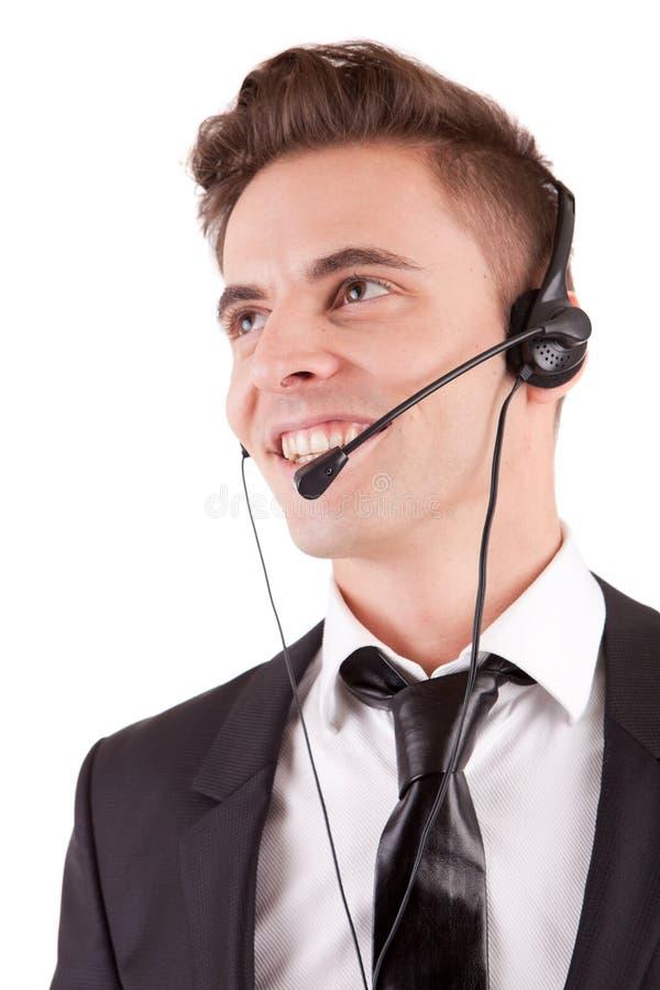 Freundlicher Telefonbediener stockfoto
