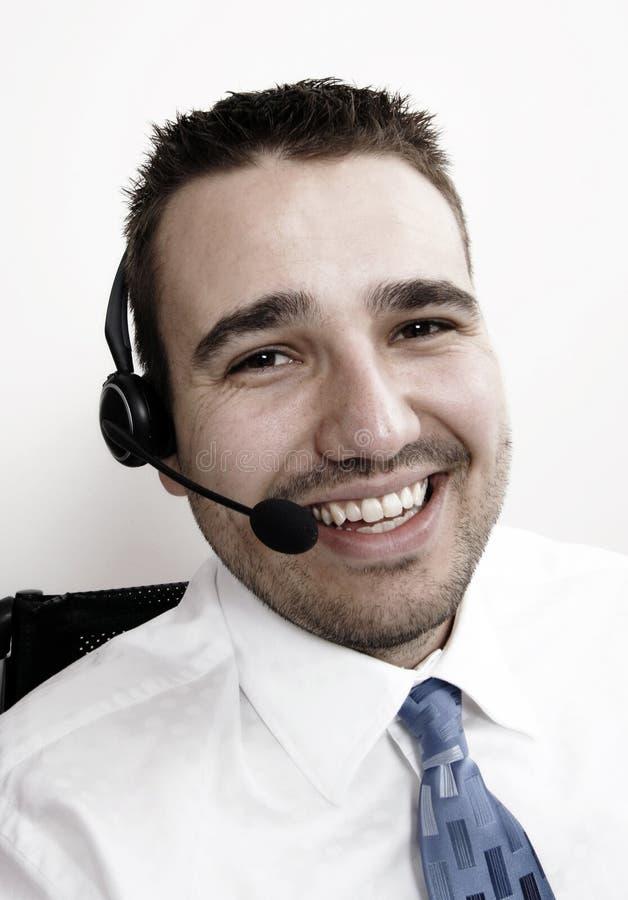 Freundlicher Telefonbediener stockbild