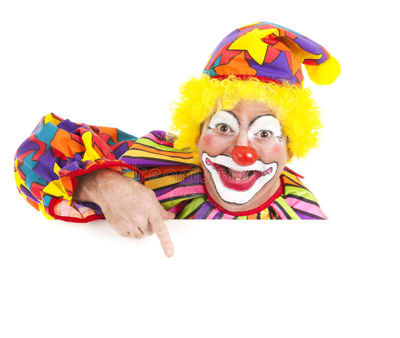 Freundliches Clown-Auslegung-Element lizenzfreies stockfoto