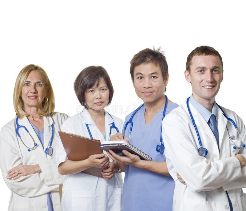Freundliches Doktorteam stockbild
