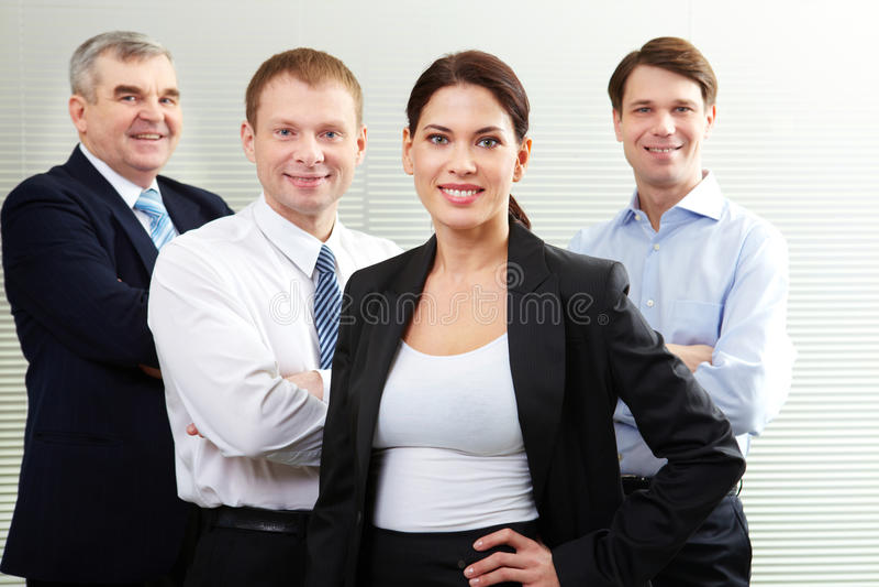 Freundliches Geschäftsteam stockfoto
