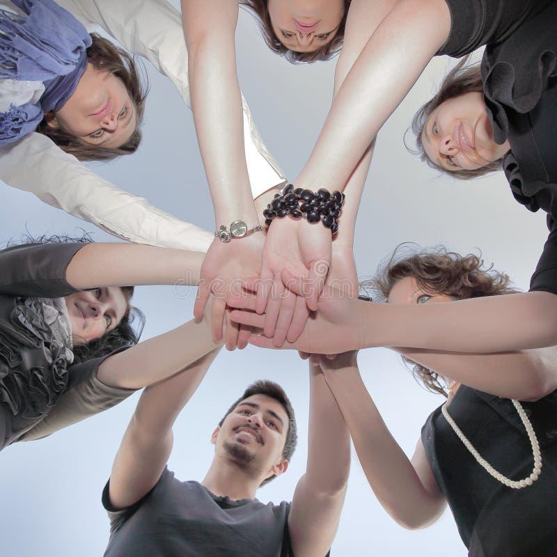 Freundliches Geschäftsteam Das Konzept der Teamwork stockfotos