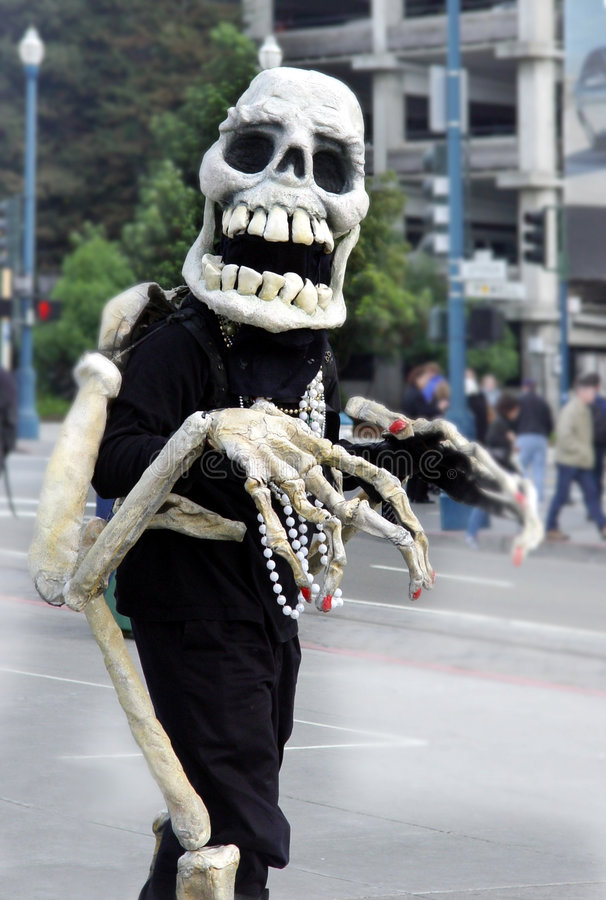 Freundliches Skelett Stockfotografie