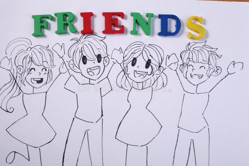 Freundschaft stockbild