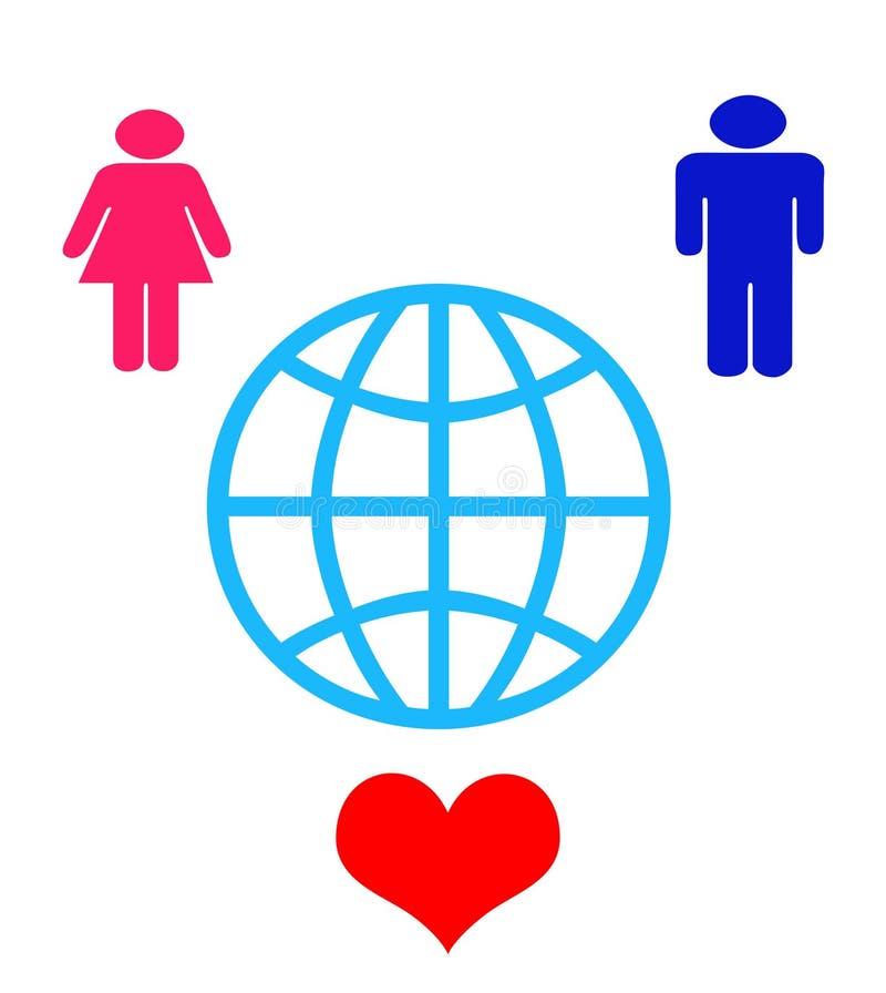 Freundschaft Auf Der Erde Lizenzfreies Stockfoto