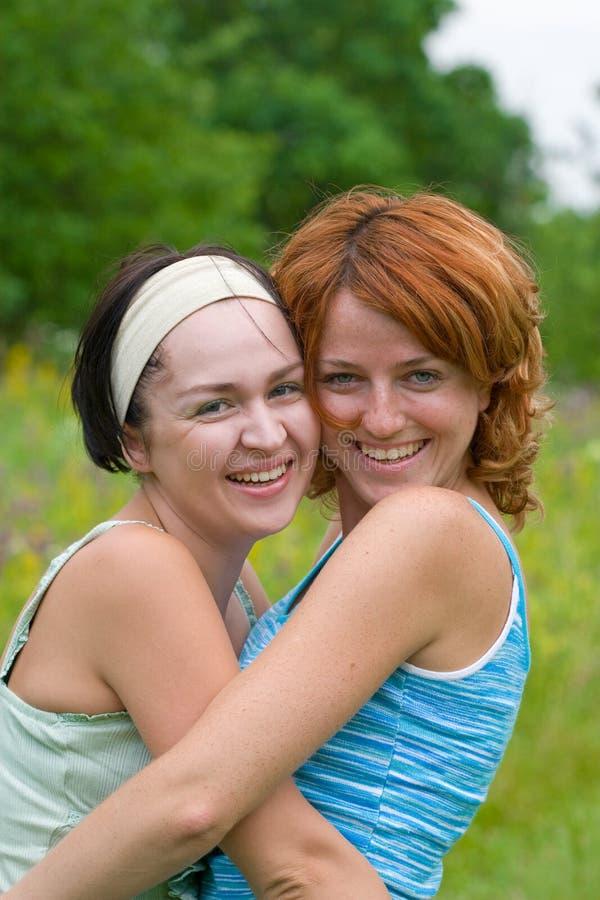 Freundschaft des Mädchens stockfoto
