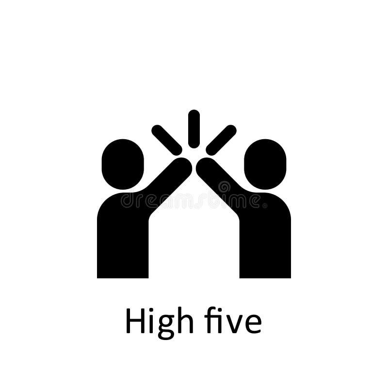 Freundschaft, High-Five-Icon Symbol für Freundschaft Grafikdesign-Symbol für Premium-Qualität Zeichen- und Symbolauflistungssymbo stock abbildung